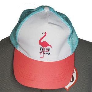 "Flamingo snapback cap hat ""reach for the sky"""